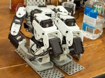 """Despite costing $50 each, these servos are considered """"low-end"""" in humanoid competitions."""