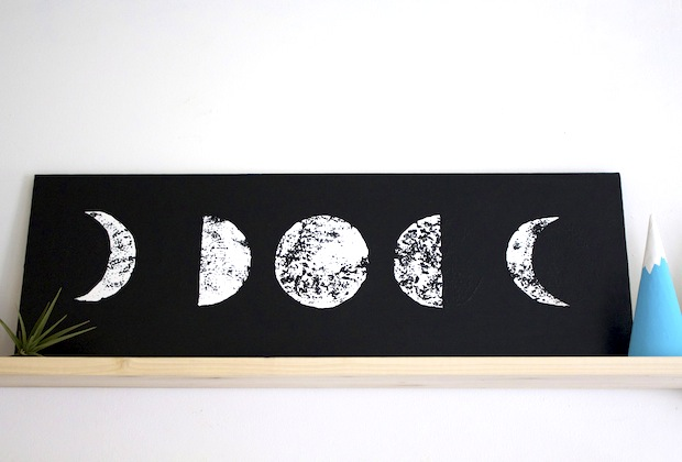 How-To: Moon Phases Wall Art
