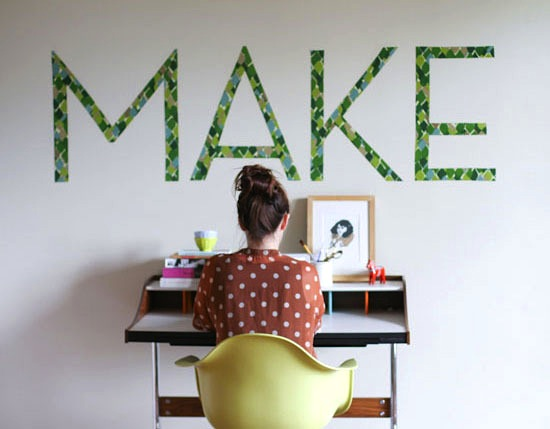 How-To: Fabric Typography Wall Art