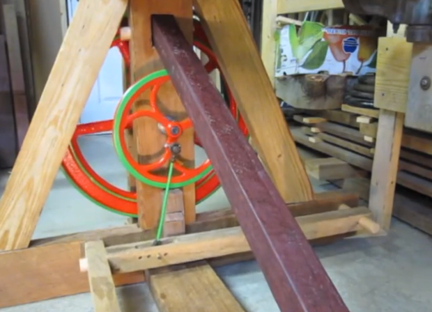 A Foot-Powered Lathe
