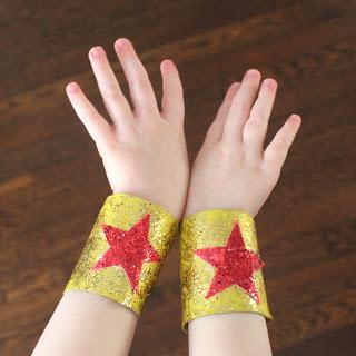 Superhero Cuffs from Toilet Paper Rolls