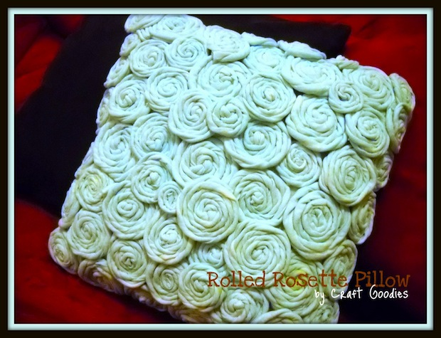 How-To: Rolled Rosette Pillow