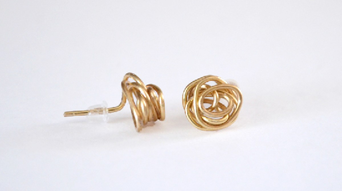 How-To: Wire Knot Stud Earrings