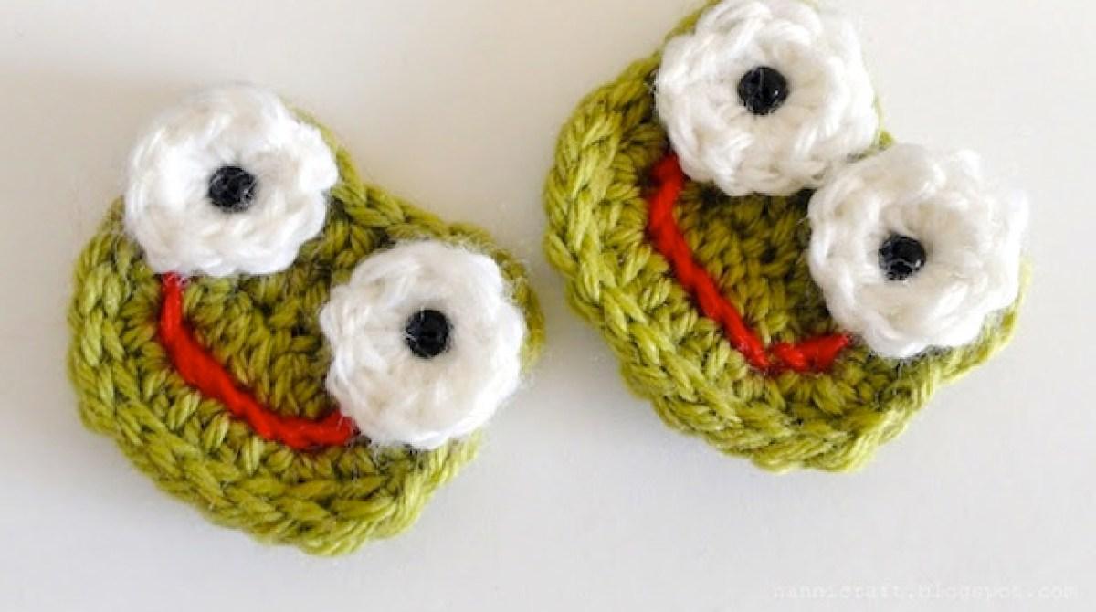 How-To: Crochet Frog Applique