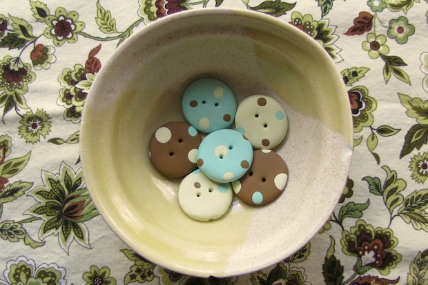 How-To: Polka Dot Polymer Clay Buttons