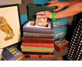 Recycle castoff books and turn them into this sneaky, decorative book safe. Link: Vintage Book Stash.