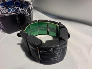 Prototype of MYO, a muscle-sensing wireless controller