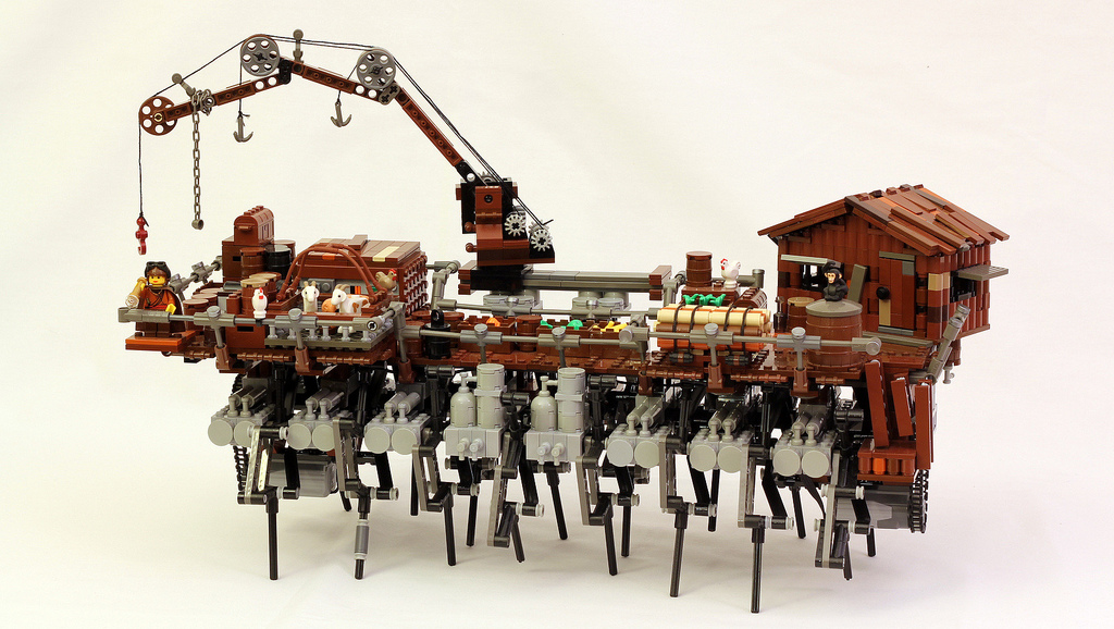 Lego Steampunk Strandbeest Model