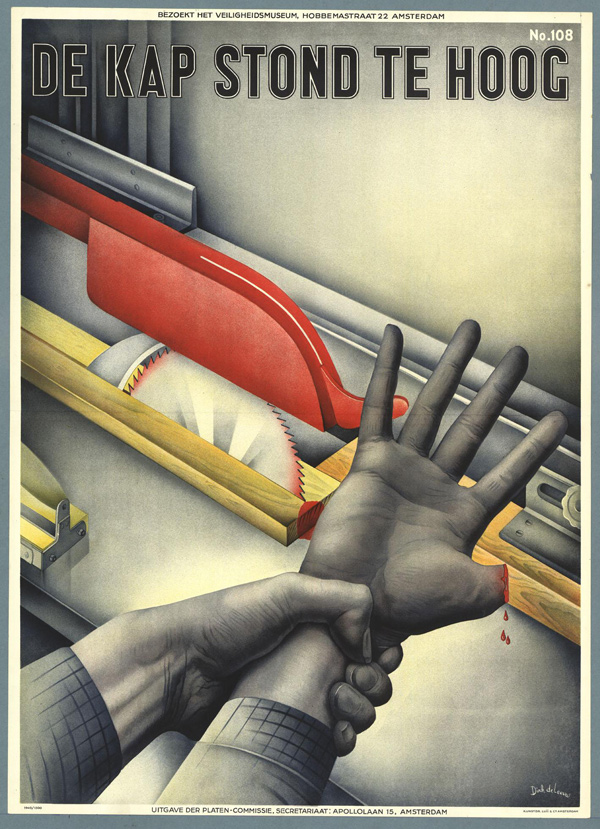 These Vintage Dutch Safety Posters Aren't Messing Around