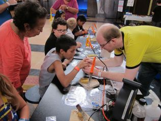 KC's original hackerspace, Cowtown Computer Congress, ran an exceedingly popular Learn to Solder booth.