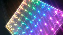 LED matrix table - under the glass top.