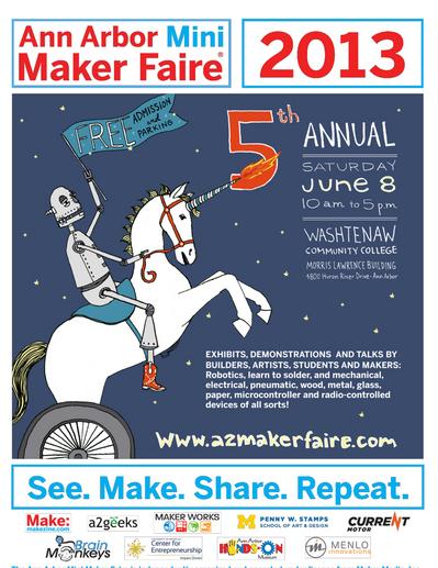 Ann Arbor Mini Maker Tomorrow!
