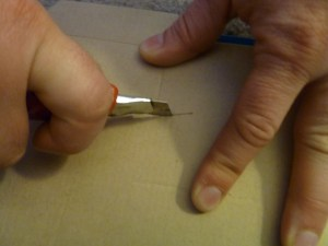 """This goes for X-actos too: If you need to brace the material you're cutting, do it on the opposite side of your cutting direction. This will keep you out of a """"knuckle-busting situation."""""""