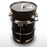 Drum Smoker Kit$139.99. Having spent a few formative years in Texas, I developed a love for barbecue and became a student of various smoking devices. The barrel-style smoker is a Texas favorite because of the control of heat and smoke it offers, but they can be expensive. Big Poppa Smokers has developed a popular, easy to build kit that allows you make your own. The 55-gallon drum is not included, but the company offers links to a number of sources.--Stett Holbrook