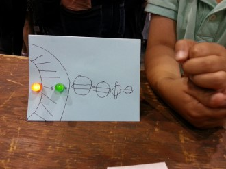 A TapeTricity solar system. Check out all those ringed planets!
