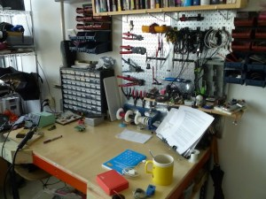 The electronics prototyping station.