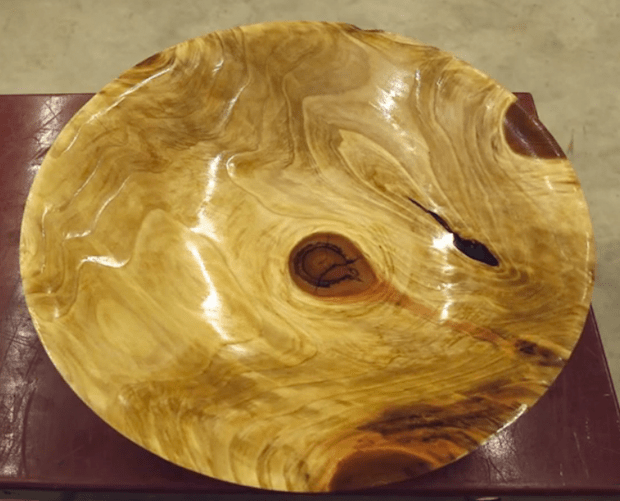 Turning a Bowl from a Chunk of Sequoia