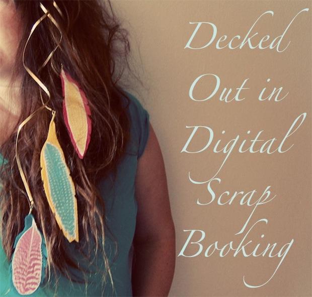 How-To: Digital Scrapbook Hair Ornament