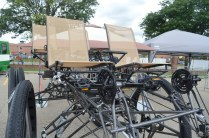 This massive bike is geared for four people to pedal: http://thirstybeachlandscaping.com/webhome.html