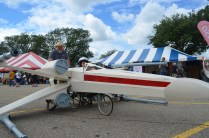 TechShop Detroit made this X-Wing in just two weeks of rapid building: http://www.techshop.ws/