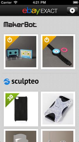 Ebay Launches a 3D Print Marketplace App