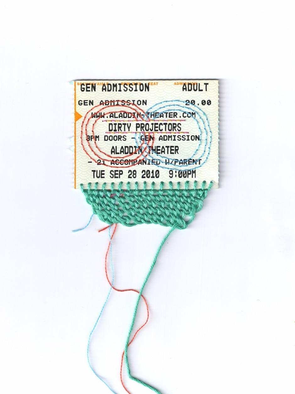 Embroidered Ticket Stub