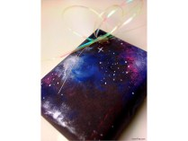 Galaxy Print Paper — For the gift recipient that nerds out on space, there would be no better gift wrap!