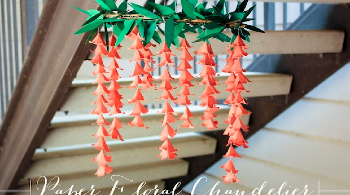 How to paper flower chandelier make article featured image mightylinksfo