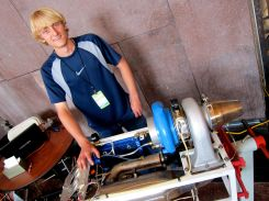 College student (electrical engineering) Austin Feathers made this jet engine when he was a sophomore in HIGH SCHOOL. He also showed a Tesla coil. http://bit.ly/12zrDBX