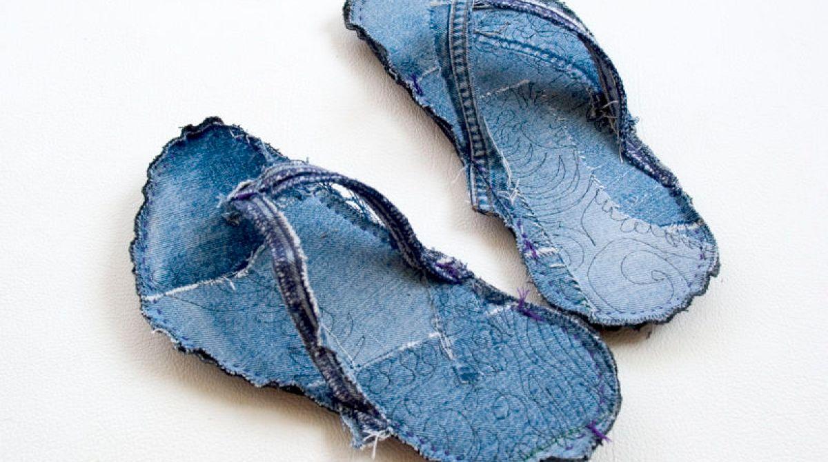 How-To: Indoor Recycled Jeans Flip Flops