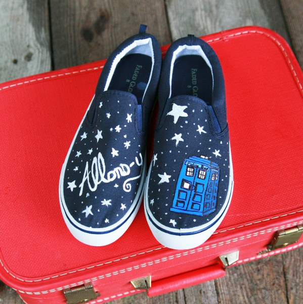 Inspiration: Doctor Who-Inspired TARDIS Shoes