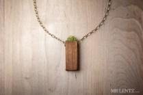 Grass necklace.