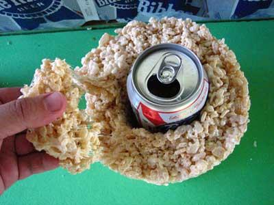 How-To: Rice Krispies Treat Beer Cozy