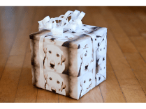 Photo Wrapping Paper — Print personalized wrapping paper by using a meaningful photo, like the recipient's dog.