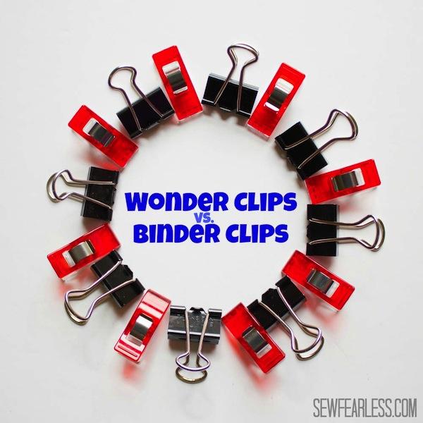 Craft Tools: Wonder Clips vs. Binder Clips