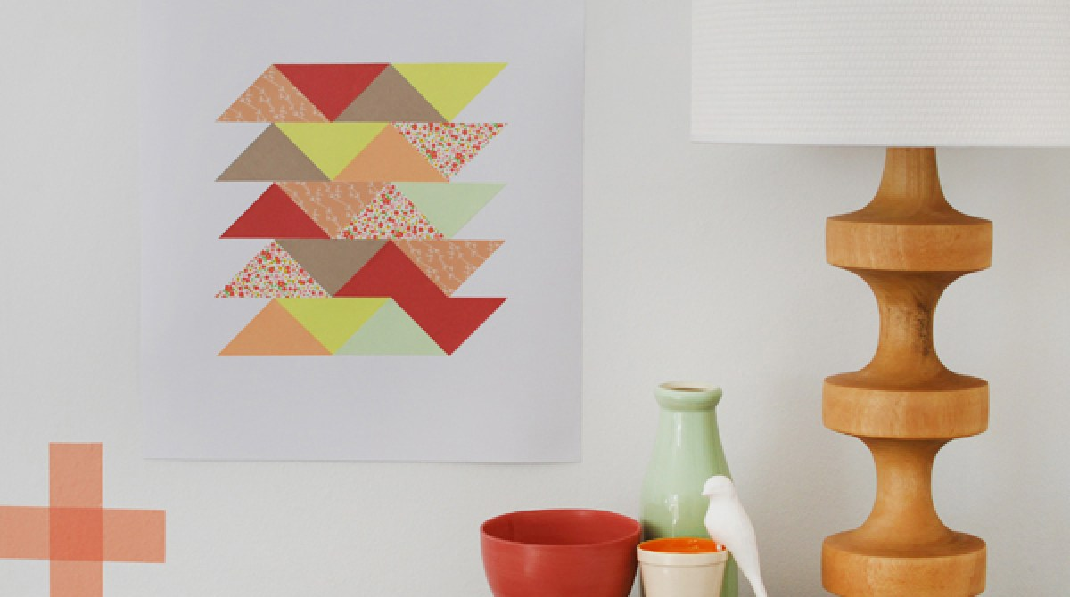 How-To: Paper Patchwork Art