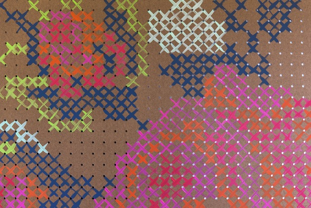 How-To: Painted Cross-Stitch Pegboard