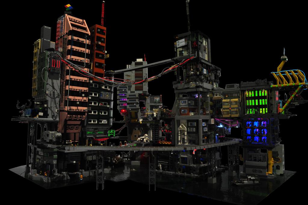 Cyber City, a Modular Lego Cyberpunk Diorama