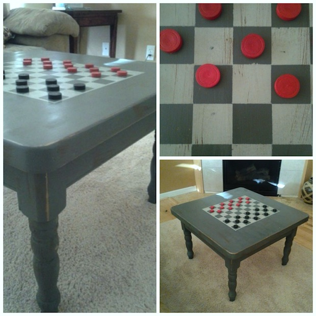 How-To: DIY Checkerboard Coffee Table