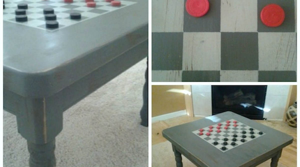 How to diy checkerboard coffee table make article featured image geotapseo Image collections