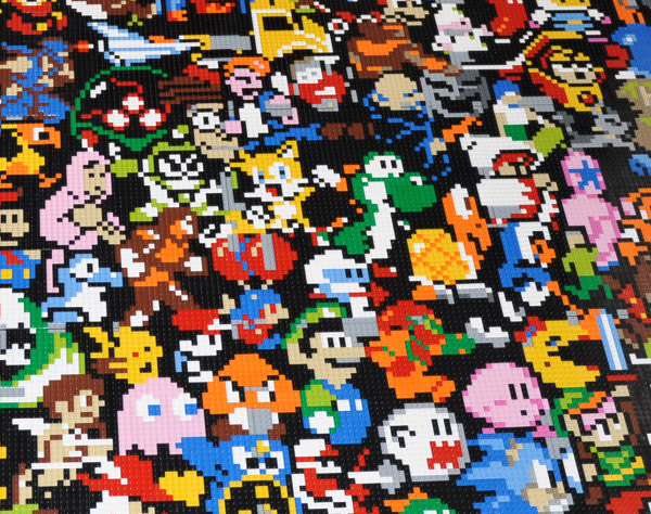 Retro Video Game Lego Mosaic