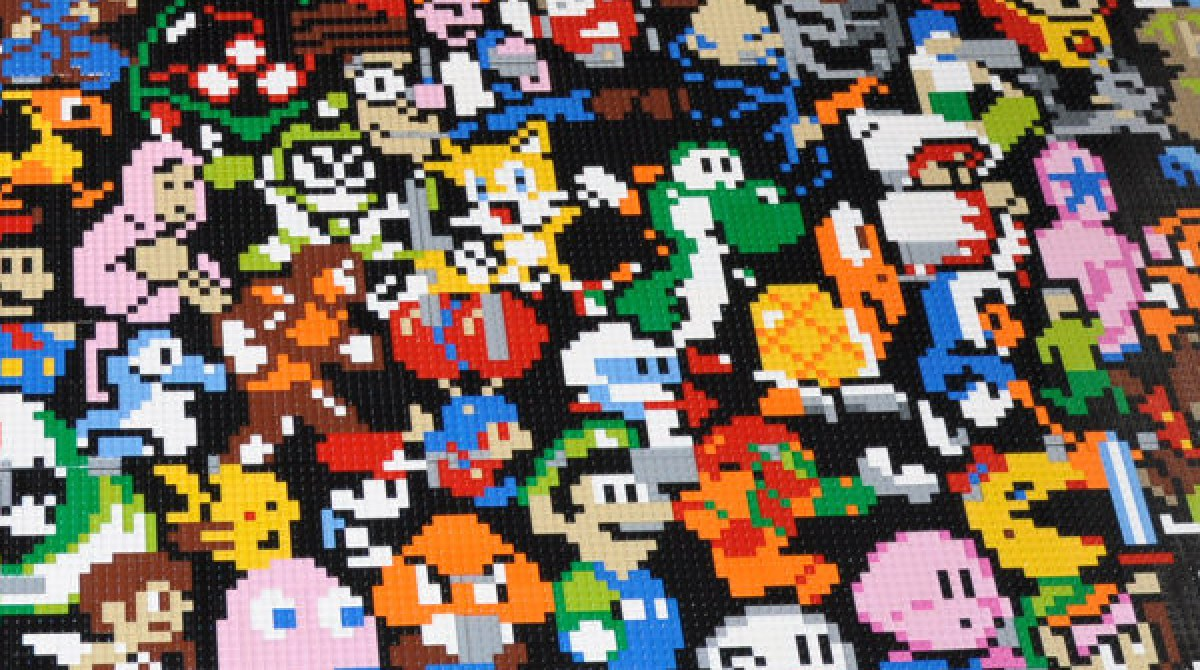 Retro Video Game Lego Mosaic
