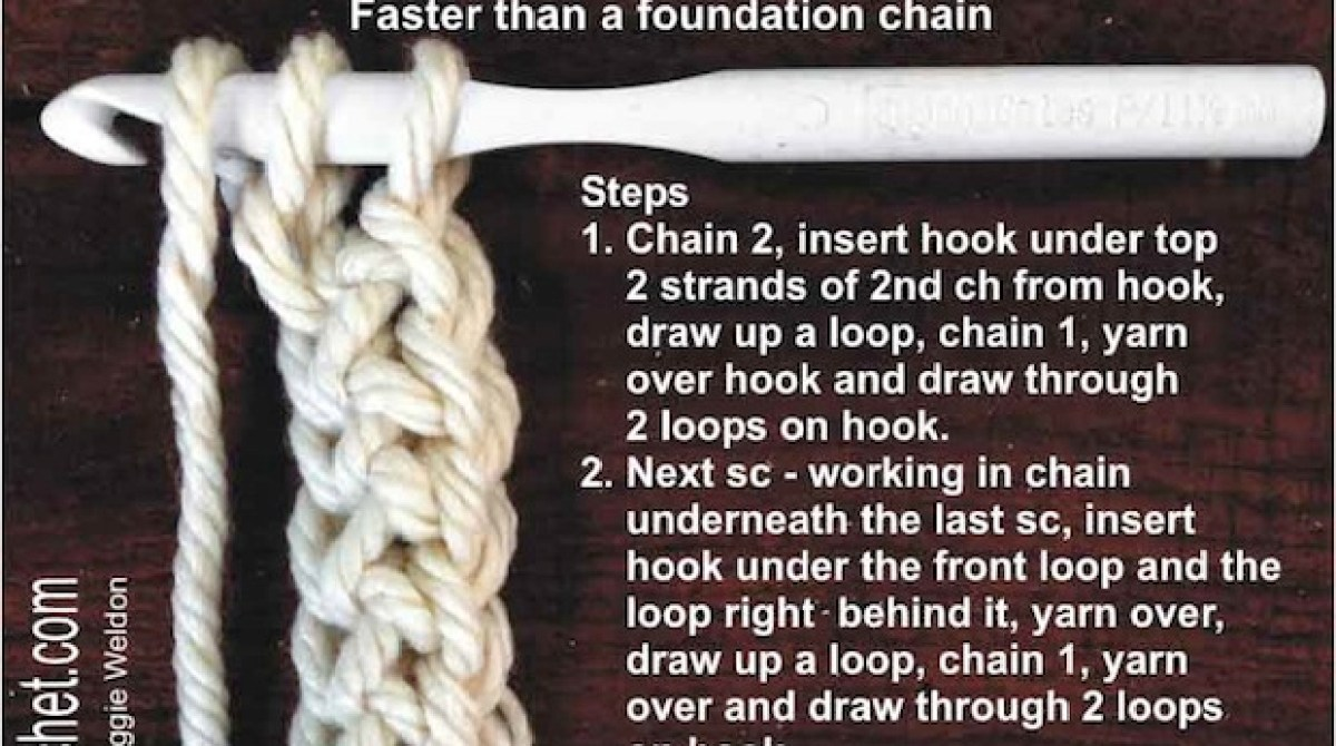 How-To: Chainless Foundation for Single Crochet
