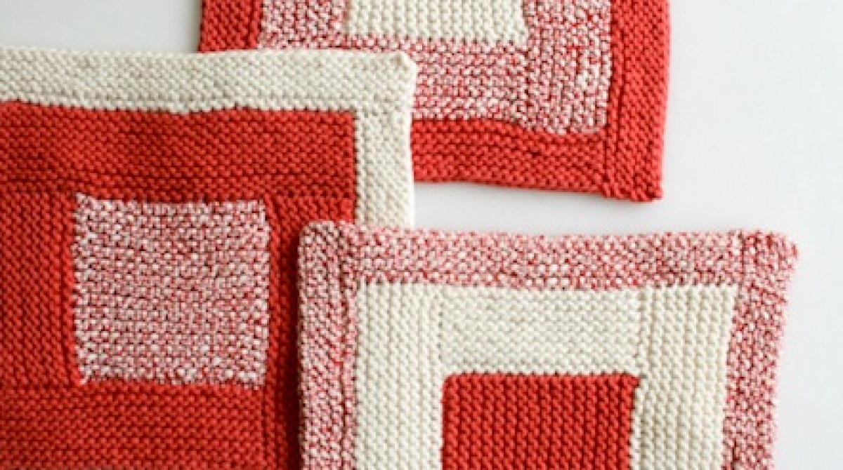 How-To: Knit Log Cabin Washcloths