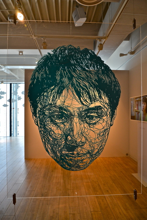 Risa Fukui's Massive Cut-Out Paper Portraits