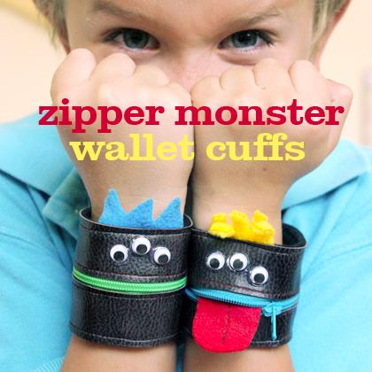 How-To: Zipper Monster Wallet Cuff