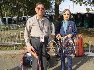 Caipei and Hanfang Cao at Maker Faire NY 2013.