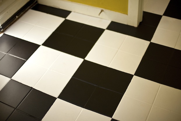 Flashback: Painted Checkerboard Tile Floor