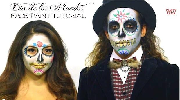 How-To: Dia de los Muertos Sugar Skull Face Paint