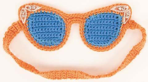 Crocheted Cat-Eye Sleep Mask